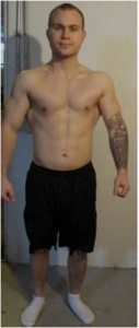 Kyle after weighing in at 173lbs