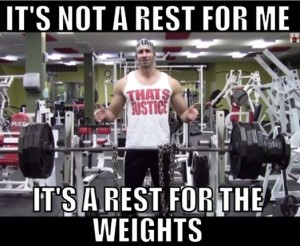 its a rest for the weights