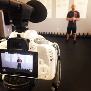 Filming my module on the science & application of coaching cues