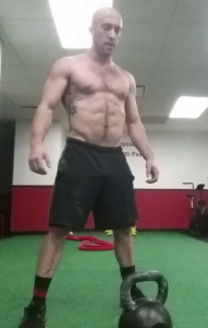 Here is Jordan in the middle of one of his recent conditioning workouts after deadlift 500lbs!